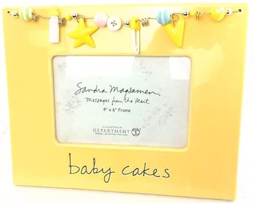 Department 56 3-D Whimsical Yellow Baby Cakes Photo Frame Holds 4 x 6 Photo - 1