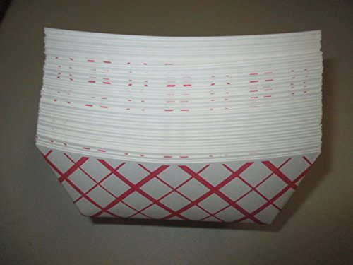 Green Point Paper Food Tray 50/ct. 1 lb., Red/White (1lb Paper Trays compare prices)