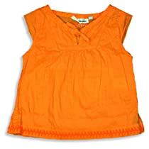 Cool Island - Girls Cap Sleeved Top, Orange 9614-6