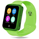 Padgene Fashion Bluetooth Camera SmartWatch With Heart Rate monitor, Noise Reduction, Sleep monitor, Pedometor, Automatic Wake-up and UV Intensity Test Function for Samsung Android Smartphones, Green