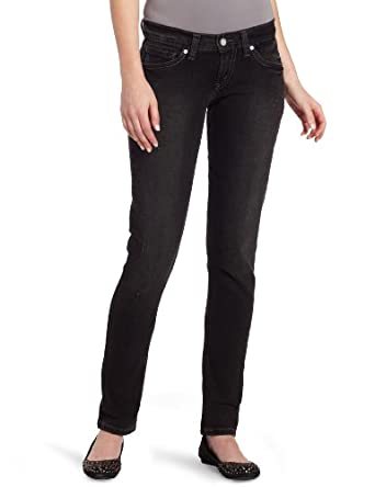 Levi's Juniors 524 Triple Needle Skinny Jean,Faded Black Trash,26/3 Medium