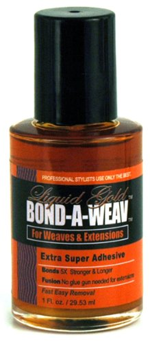LIQUID GOLD Lloneau Extra Super Bond A Weav Dries Colorless for Braids & Extensions 1 oz