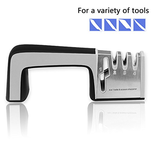 Knife Sharpening system,knife sharpener,maitaining dulled kitchen & sporting knives,serrated blades,kitchen shears