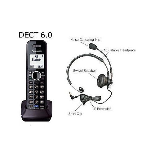 Panasonic Dect 6.0 Accessory 2 Line Bluetooth Handset For Kx-Tg954 Series With Free Professional Headset