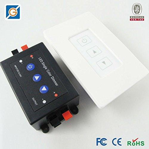wall mounted wireless led dimmer switch and rf receiver for single color ebay. Black Bedroom Furniture Sets. Home Design Ideas