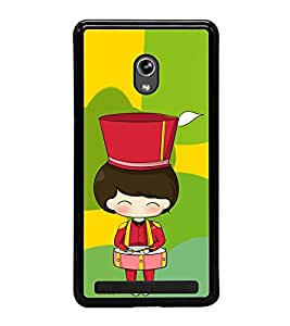 Fuson Premium 2D Back Case Cover Cute Girl with Drums With blue Background Degined For Asus Zenfone 5::Asus Zenfone 5 A500CG