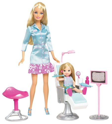41QbS43LwkL Cheap  Barbie I Can Be Dentist Playset