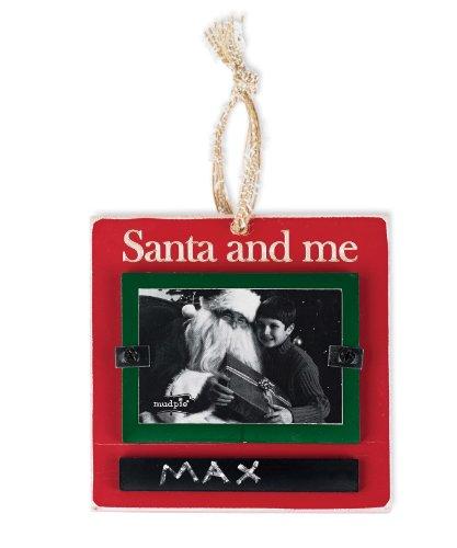 Mud Pie Ornament Frame, Santa and Me - 1