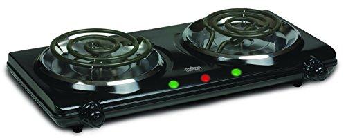 Salton HP1427 Portable Cooking Range, Double Burner, Black (Portable Electric Burner Double compare prices)