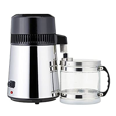 KMM 4L Stainless Steel Countertop Home Water Distiller with Glass Collection and Nozzle Insert #036S