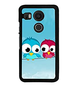 Pair of Birds on a Wire 2D Hard Polycarbonate Designer Back Case Cover for LG Nexus 5X :: LG Google Nexus 5X New