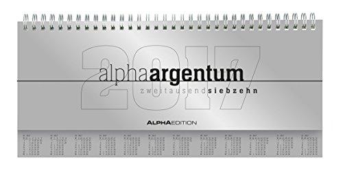 Tisch-Querkalender-Alpha-Argentum-2017-mit-verlngerter-Rckwand-1-Woche-2-Seiten-297-x-135