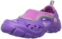 crocs Micah II Sandal Kids Flip Flop (Toddler/Little Kid), Neon Purple/Vibrant Violet, 12/13 M US Little Kid