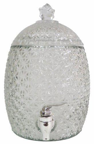 VMI Housewares VMI Housewares G-01996 Pineapple Beverage Dispenser, 7-Liter,Clear Glass