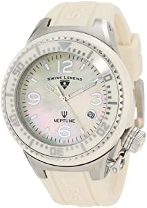 Swiss Legend Women's 11844-BGWSA Neptune White Mother-Of-Pearl Dial Watch