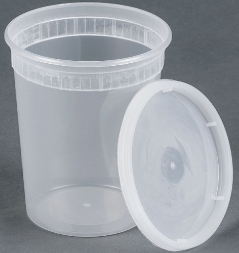 25 sets 32oz plastic soup/Food container with lids (To Go Soup Containers compare prices)