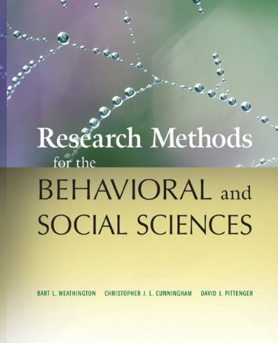 Behavioral Sciences: Research Methods For The Behavioral And Social Sciences