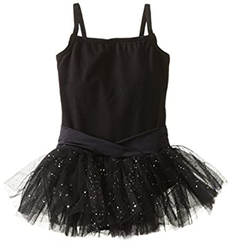 Capezio Little Girls' Camisole Tutu Dress,Black,I ( 6-8)