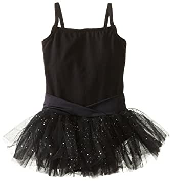 Capezio Little Girls' Camisole Tutu Dress,Black,T (2-4)