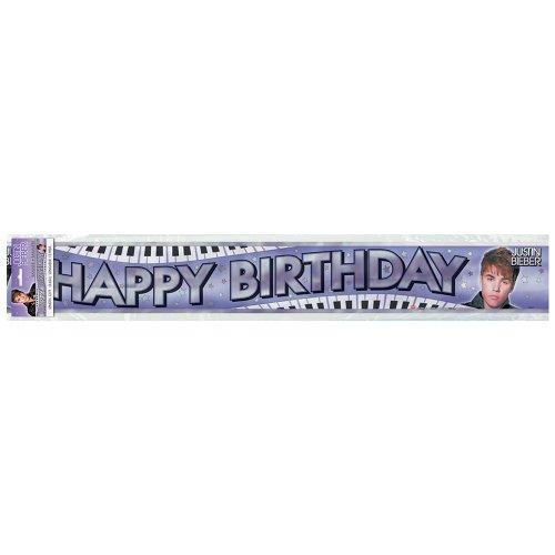 12' Justin Bieber Birthday Banner, 12' - 1
