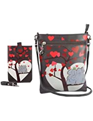 Combo Offer Of Designer Sling Bag + Mobile Sling Bag Grey Printed Stylish Mobile Sling Bag For Girls, Womens,...