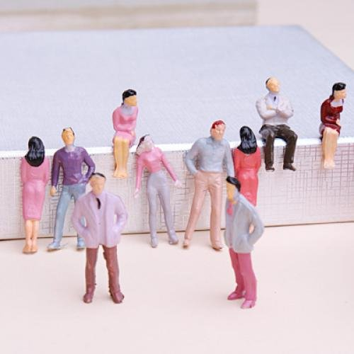 100pcs Painted Model Train People Figures Scale 1 to 50