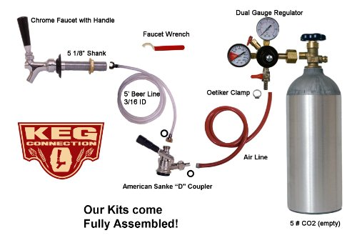 1 Faucet refrigerator Keg Kit, for Standard Kegs