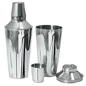 Adcraft BAR-3PC 3 Piece, 28 oz Capacity, Mirror Finish, Stainless Steel Bar Shaker Set by Adcraft