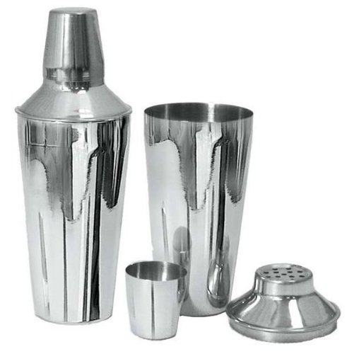 Adcraft Bar-3Pc 3 Piece, 28 Oz Capacity, Mirror Finish, Stainless Steel Bar Shaker Set