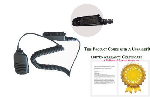 Upbright® New Handheld Ptt Remote Speaker Mic Microphone For Motorola Walkie Talkie Two-Way Radio Series; Pmmn4021, Pmmn4021A, Pmmn4027, Pmmn4027A, Pmmn4039, Pmmn4039A, Hmn9052, Hmn9052E, Hmn9053, Hmn9053B, Hmn9053C, Hmn9053E, Br950, Gp140, Gp240, Gp280,