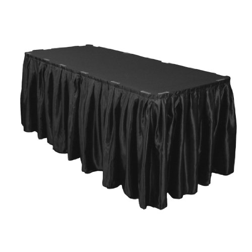 17 Foot Satin Table Skirt Black