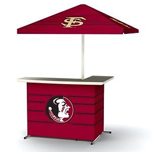 NCAA Florida State Seminoles Portable Bag Travel L-Shape Umbrella Basic Bar by Best of Times