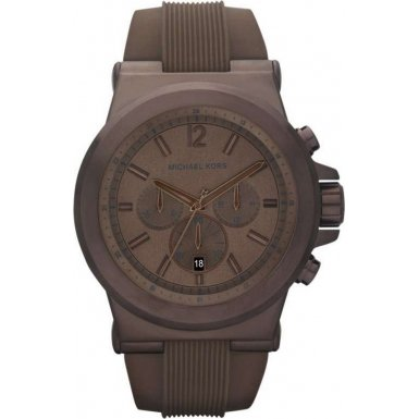 Men'S Classic Watch Dial: Brown Chronograph