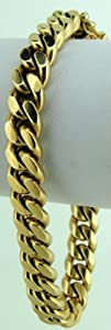 14k Italy Yellow Gold 8.6mm Miami Cuban Curb Link Chain
