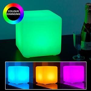 LED Colour Changing Large Mood Cube Light