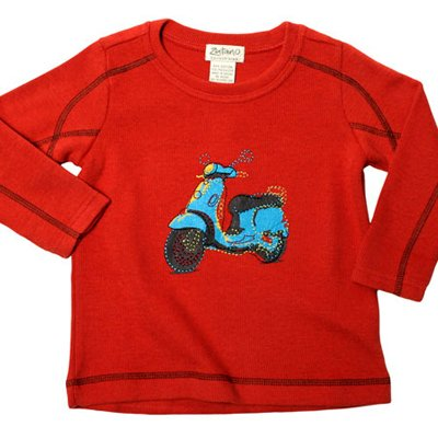 Zutano Topstitch Crew, Scooter - Buy Zutano Topstitch Crew, Scooter - Purchase Zutano Topstitch Crew, Scooter (Zutano, Zutano Boys Shirts, Apparel, Departments, Kids & Baby, Boys, Shirts, T-Shirts, Boys T-Shirts)