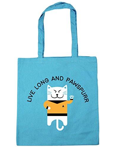 hippowarehouse-live-long-and-pawspurr-tote-shopping-gym-beach-bag-42cm-x38cm-10-litres