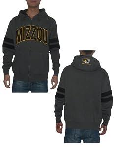 NCAA Missouri Tigers Mens Warm Athletic Zip-Up Hoodie Sweatshirt Jacket by NCAA