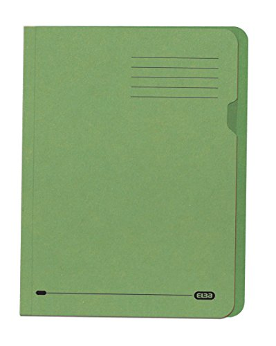 Elba Square Cut Folder Recycled Lightweight 180gsm A4 Green Ref 20144 [Pack of 100]