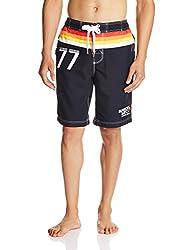 Superdry Men's Synthetic Shorts (5054265253447_M30MP000_Medium_Darkest Navy)