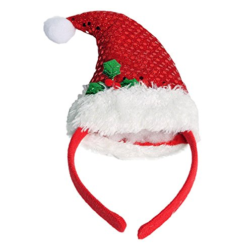 Sequin Santa Hat Headband - 1