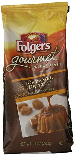 Folgers Gourmet Selections Caramel Drizzle Flavored Ground Coffee, 10 Ounce (Flavored Coffee compare prices)