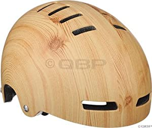 Lazer Street Deluxe Helmet: Wood Grain; MD