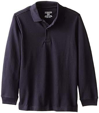Izod Big Boys 39 Long Sleeve Uniform Polo