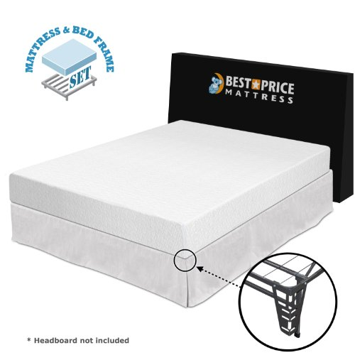 "Sale!! Best Price Mattress 8"" Memory Foam Mattress + Bed frame Set - Full - No box spring neede..."
