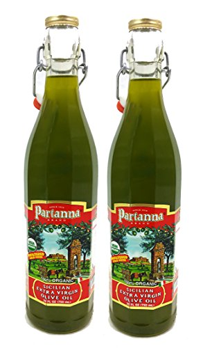 Premium Quality Sicilian Partanna Organic Olive Oil- Non GMO - Kosher - 2 Pack (Asaro Olive Oil compare prices)