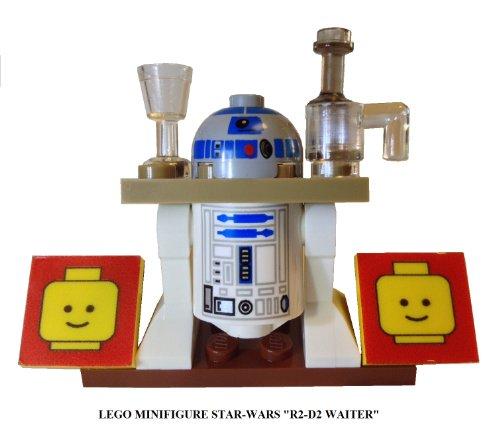 "Lego Minifigure: Star Wars ""R2-D2 Waiter"" And Lego Display Base"
