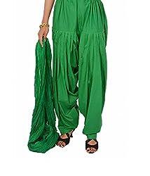 Shiva Collections green cotton patiala salwar with dupatta