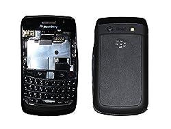 Blackberry Curve 9780 Full Housing Body Panel Faceplate Black FREE SIM ADAPTER
