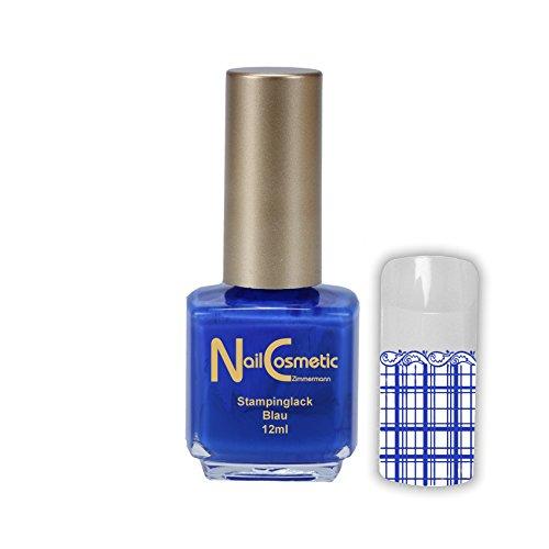 Stamping Lack Blau / Stampinglack Blau / Nagellack Blau 12ml
